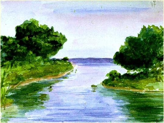 Пейзаж нарисованный Ольгой Николаевной