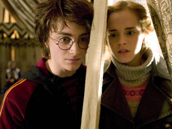Гарри и Гермиона в минуту смертельной опасности