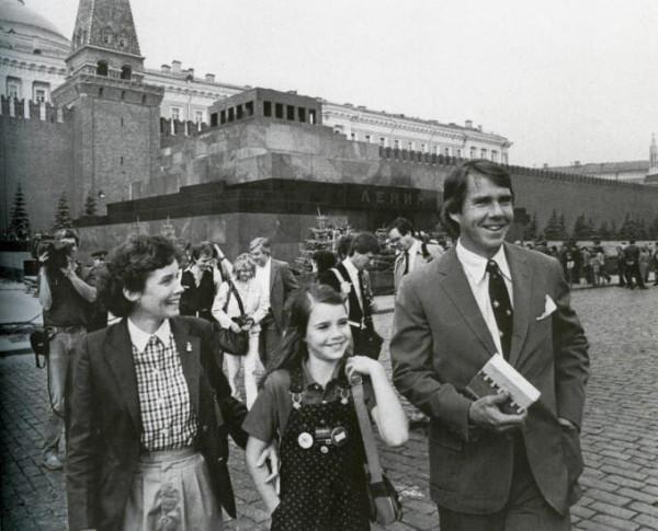 Саманта и её отец на Красной площади