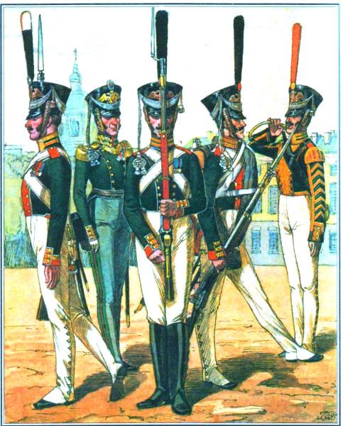 Гвардейская пехота 1820 года