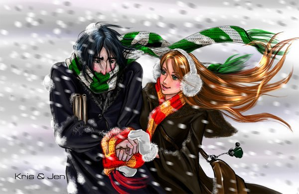 Снэванс под снегом