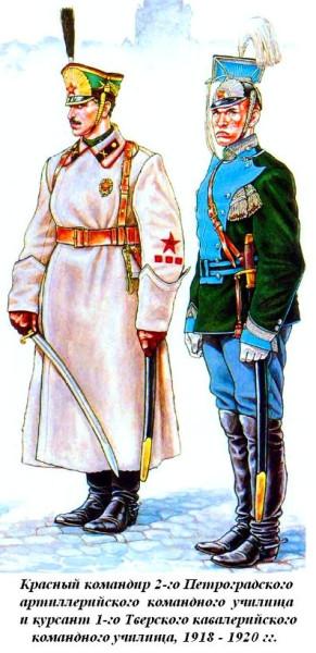 Чины артиллерийского и  кавалерийского училищ РККА 1919