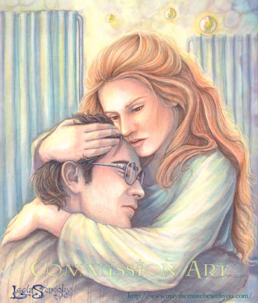 Джинни утешает Гарри