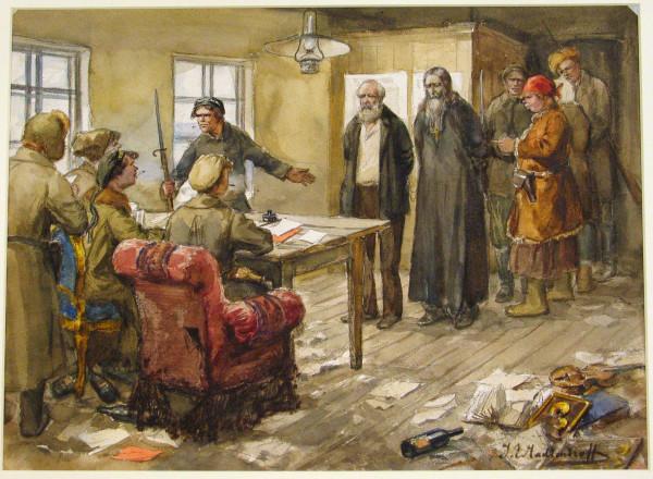 Священник и дворянин перед революционным судом