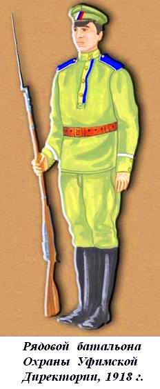 Солдат батальона Охрану Уфимской Директории 1918