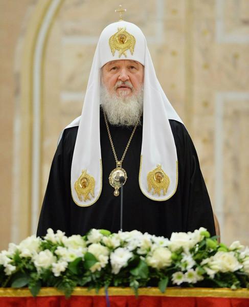 Патриарх Кирилл проповедует