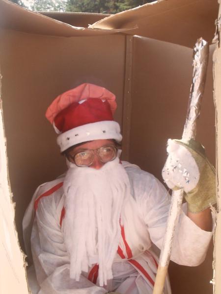 Дед Мороз в коробке