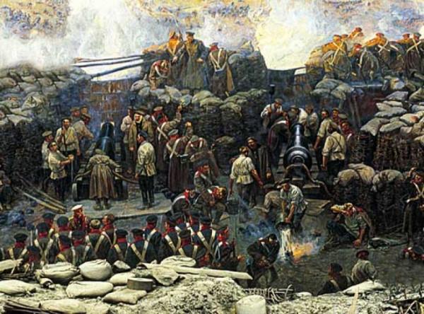 Оборона Севастополя - на батарее