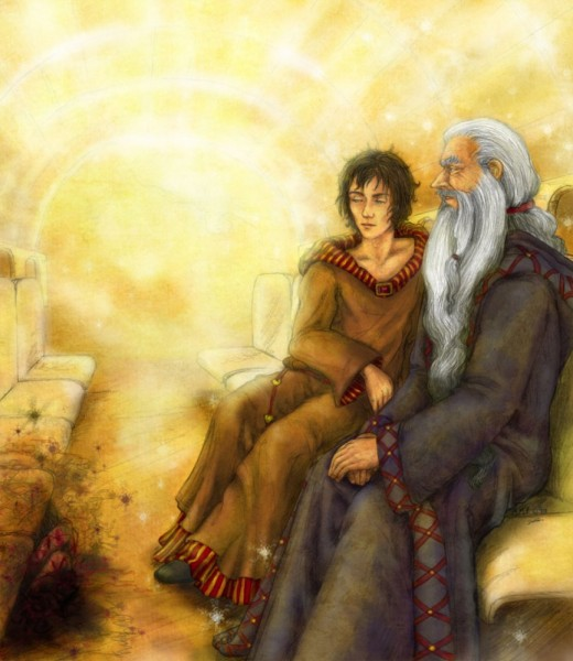 Дамблдор и Гарри на том свете