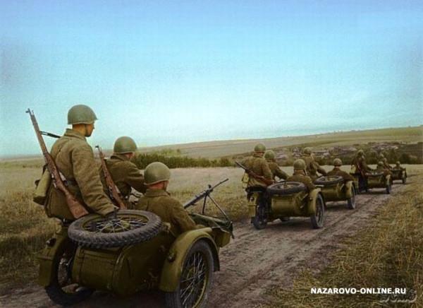 Мотоциклисты Красной Армии