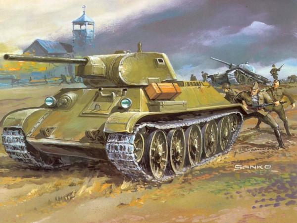 Т-34-76 с десантом