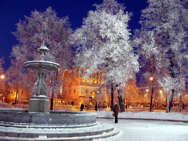 Площадь Минина зимой
