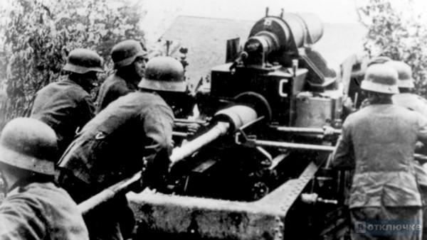 Германская артиллерия под Ленинградом