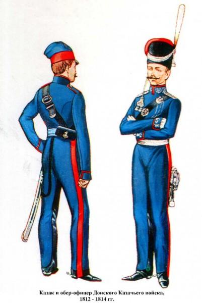 Донского войска казак и обер-офицер 1812