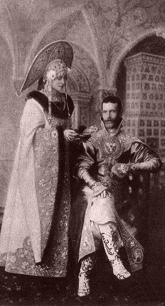 Елизавета Фёдоровна и Сергей в допетровских нарядах