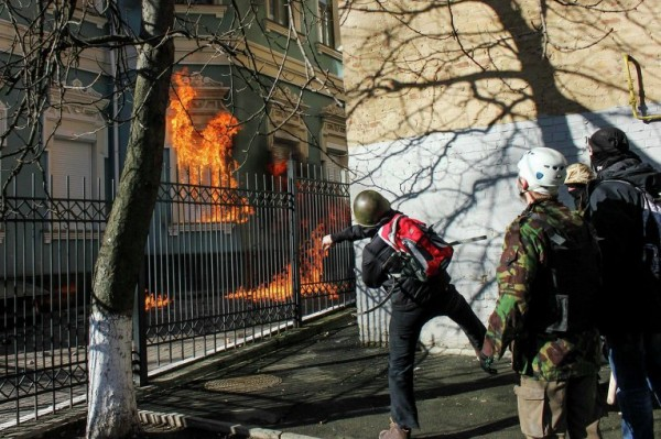 Евромайдан - поджоги