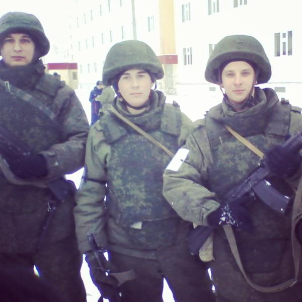 Российские войска в бронежилетах