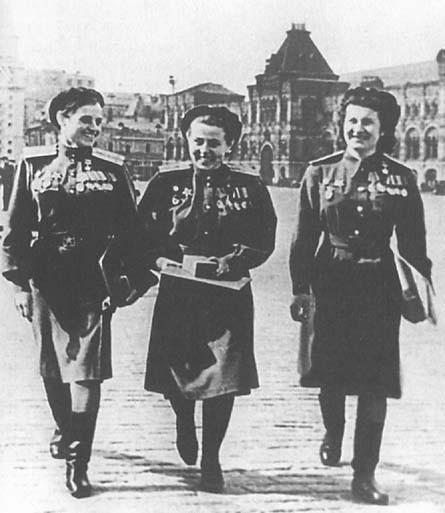 Раиса Аронова с боевыми подругами на Красной площади
