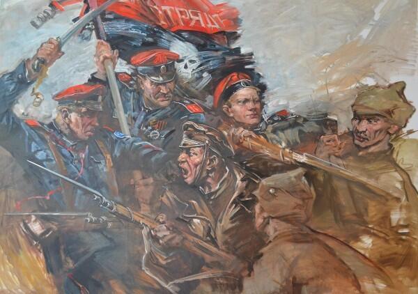 Бой Корниловцев с красными
