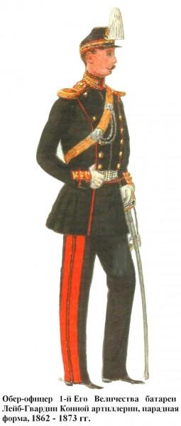 1-й батареи гвардейской конной артиллерии обер-офицер 1863