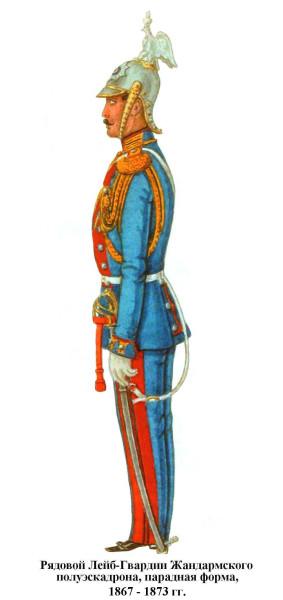 Рядовой Жандармского гвардейского полуэскадрона 1867