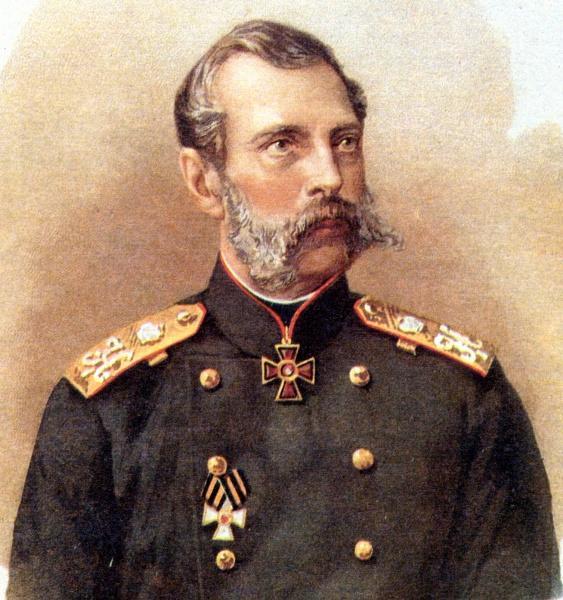 Александр II в погонах