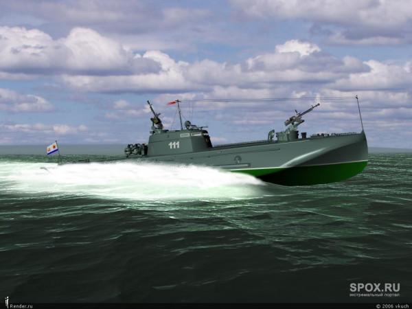Торпедный катер Г-5 на ходу
