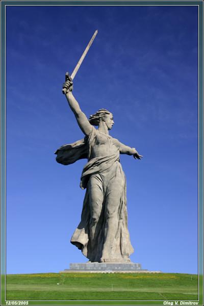 Родина-мать в Сталинграде