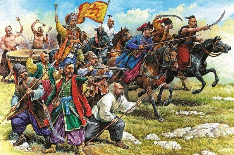 Запорожцы в бою