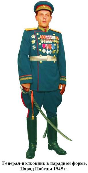 Армейский генерал-полковник в парадной форме 1945