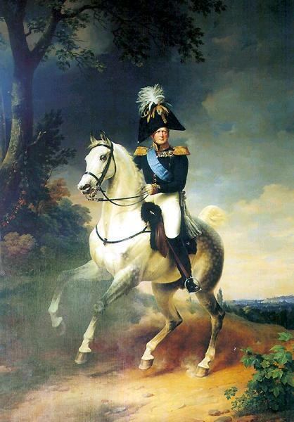Александр I на коне