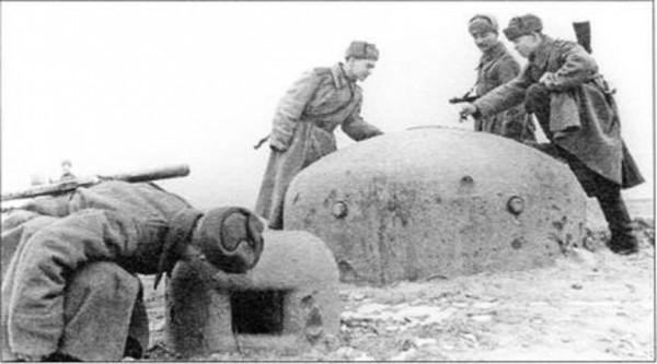 Немецкий укрепрайон взятый советскими войсками