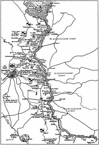 Карта расположения войск на 16 апреля 1945 года