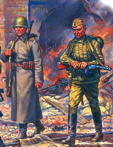 Русская пехота весной 1945-го