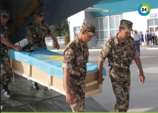 Похороны казахских пограничников