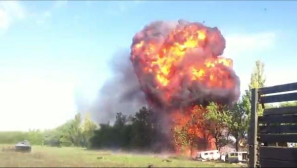 Взрывы в Донецкой области