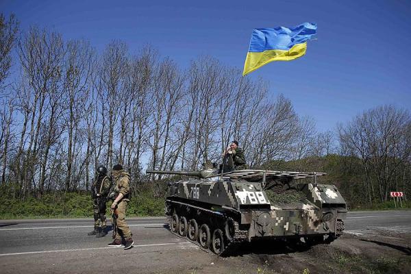 Блок-пост украинской армии под Славянском