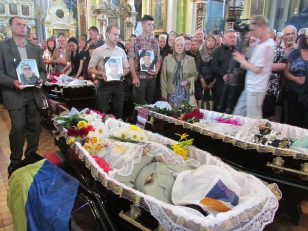 Похороны украинских солдат