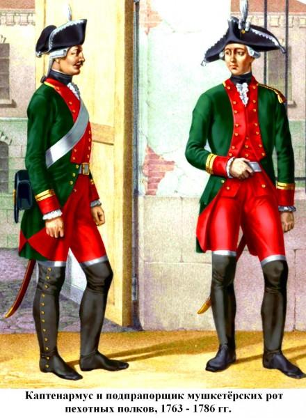 Мушкетёрские унтер-офицеры 1763