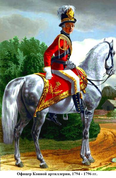 Конноартиллерийский офицер 1794