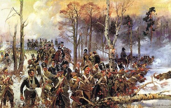 Сражение русских войск с польскими мятежниками в 1831 году