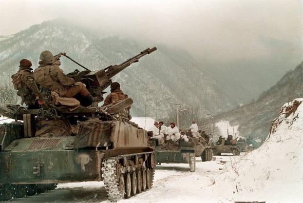 Русские войска в Чечне