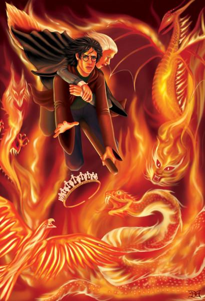 Гарри спасает Драко Малфоя