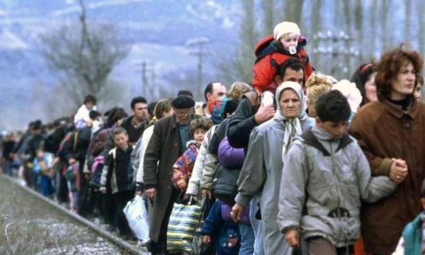 Украинские беженцы на пути в Россию