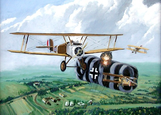 Воздушный бой с германским аэростатом