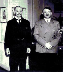 Гитлер и Чемберлен