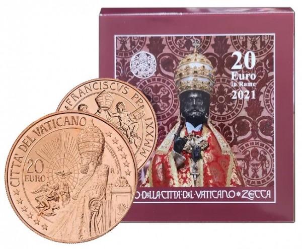 Первая памятная монета Ватикана 20 евро из недрагоценных металлов