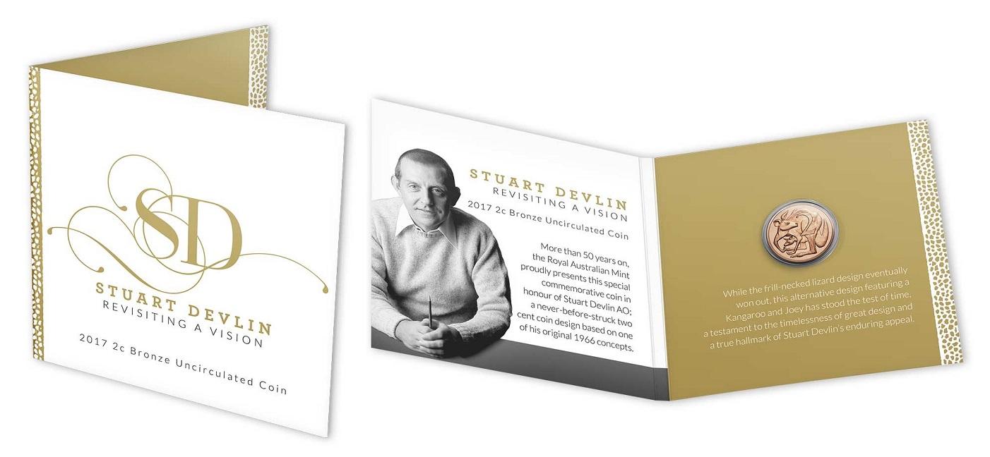 Австралия 2 цента 2017 года Дизайн Стюарта Девлина