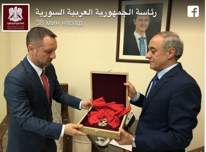 Президент Сирии Башар Асад вернул орден Почетного легиона Франции через румынское посольство