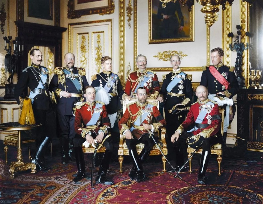 """Похороны британского короля Эдуарда VII, """"дяди Европы"""", 20 мая 1910 года. 9 королей."""